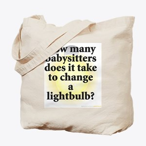 Babysitter Lightbulb Tote Bag
