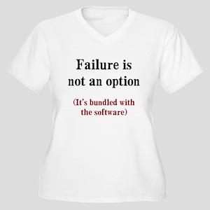 Software Failure Women's Plus Size V-Neck T-Shirt