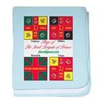 Flags of the Irish Brigade of France baby blanket
