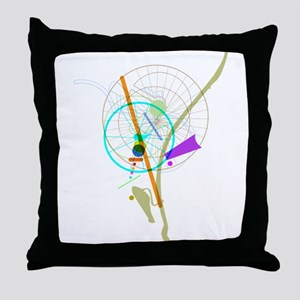 Bike Flower Throw Pillow