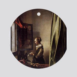 Girl Reading a Letter at an O Ornament (Round)