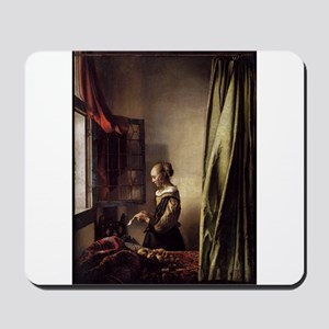 Girl Reading a Letter at an O Mousepad