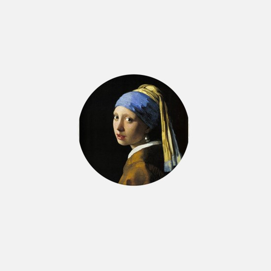 Girl with a Pearl Earring Mini Button