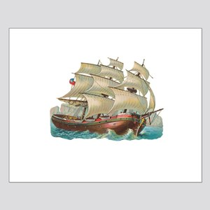 Vintage Ship Small Poster
