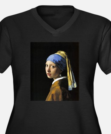 Girl with a Pearl Earring Women's Plus Size V-Neck