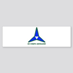 DUI - I Corps with Text Sticker (Bumper)