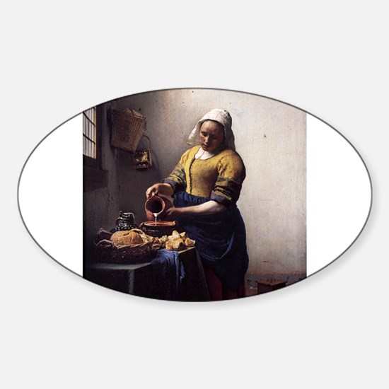The Milkmaid Sticker (Oval)