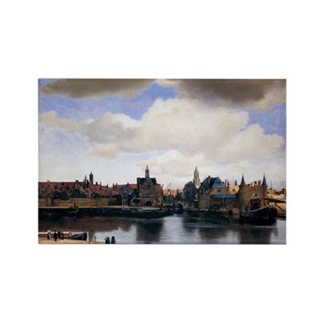 View of Delft Rectangle Magnet (10 pack)