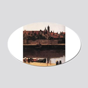 View of Delft (detail) 22x14 Oval Wall Peel