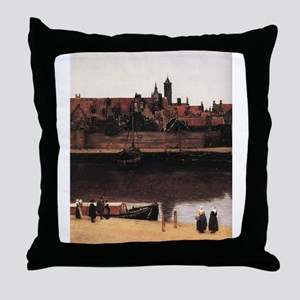 View of Delft (detail) Throw Pillow