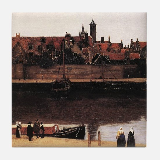 View of Delft (detail) Tile Coaster