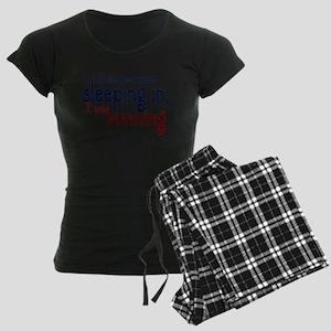 Sleeping in Women's Dark Pajamas