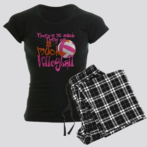 2 much Volleyball Women's Dark Pajamas