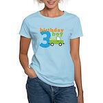 Truck Birthday Boy 3 Women's Light T-Shirt