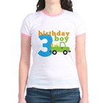 Truck Birthday Boy 3 Jr. Ringer T-Shirt