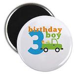 Truck Birthday Boy 3 Magnet