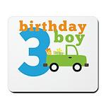 Truck Birthday Boy 3 Mousepad