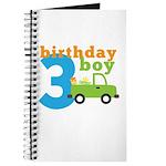Truck Birthday Boy 3 Journal