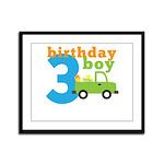 Truck Birthday Boy 3 Framed Panel Print