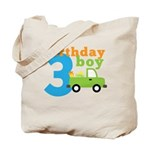 Truck Birthday Boy 3 Tote Bag