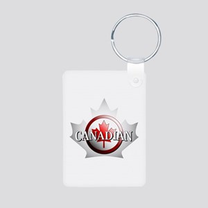I be Canadian Aluminum Photo Keychain