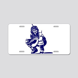 CATCHER *1* {blue} Aluminum License Plate