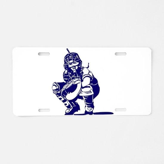 CATCHER *1* {blue} Aluminum License Plate