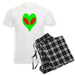 Alien Heart Men's Light Pajamas