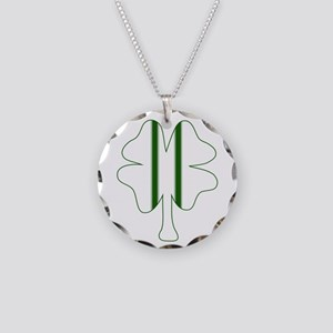 Racing Clover Necklace Circle Charm