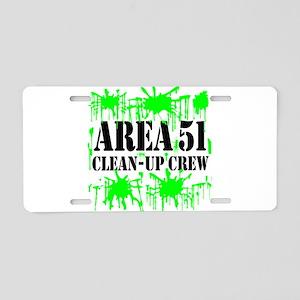 Area 51 Clean-Up Crew Aluminum License Plate