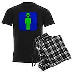 Alien Man Men's Dark Pajamas