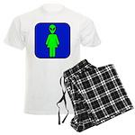Alien Woman Men's Light Pajamas