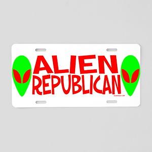 Alien Republican Aluminum License Plate