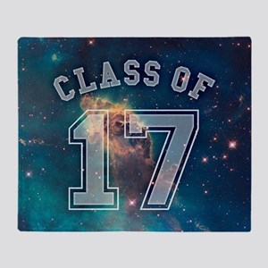 Class of 17 Space Throw Blanket