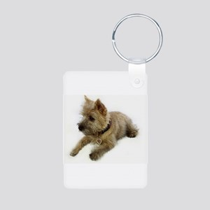 Cairn Terrier Puppy Aluminum Photo Keychain