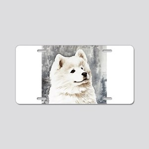 Samoyed Puppy Aluminum License Plate