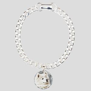 Samoyed Puppy Charm Bracelet, One Charm