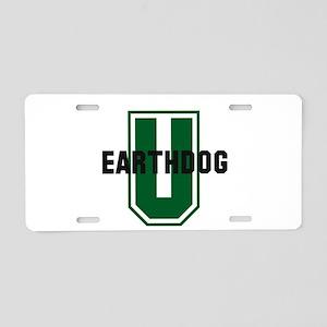 Earthdog University Aluminum License Plate