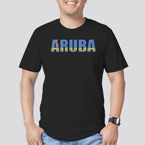 Aruba Men's Fitted T-Shirt (dark)