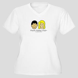 Haole Honey Club - Blond Women's Plus Size V-Neck