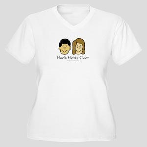 Haole Honey Club - Brunette Women's Plus Size V-Ne
