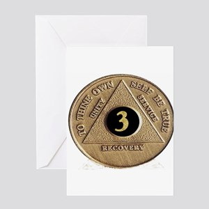 3 YEAR COIN Greeting Card