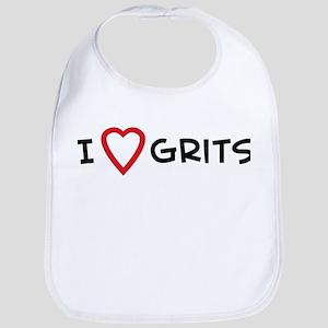 I Love Grits Bib