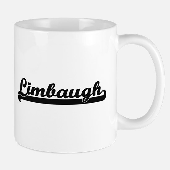 Limbaugh surname classic retro design Mugs