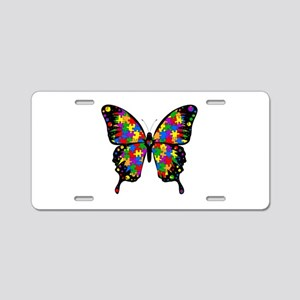 Autism Butterfly Aluminum License Plate