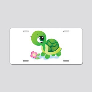 Toshi the Turtle Aluminum License Plate