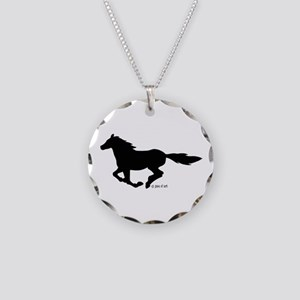 HORSE (black) Necklace Circle Charm