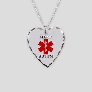 Autism Medical Alert Necklace Heart Charm