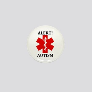 Autism Medical Alert Mini Button - 1""