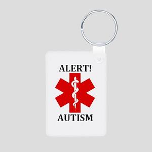 Autism Medical Alert Aluminum Rectangle Keychain